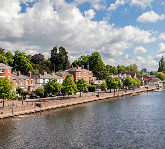 Image of River Dee and Chester Riverside to promote Powell Commercial Insurance Brokers - Contractors Combined Insurance