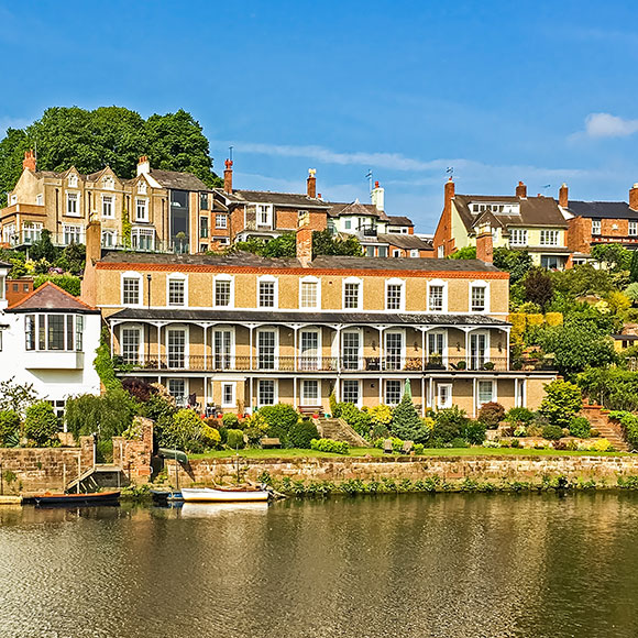 High value homes by River Dee, Chester to promote Powell Commercial Insurance Brokers - High Net Worth Insurance