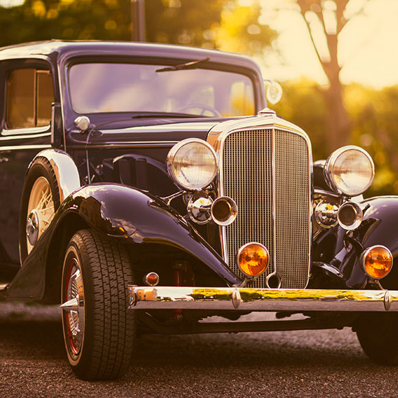Classic car to promote Powell Commercial Insurance Brokers - Private Car Insurance